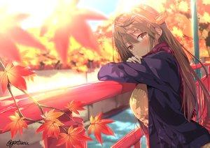 Rating: Safe Score: 110 Tags: anthropomorphism autumn gintarou_(kurousagi108) haruna_(kancolle) kantai_collection signed User: mattiasc02