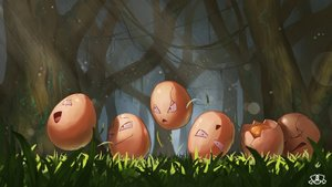 Rating: Safe Score: 15 Tags: exeggcute forest grass group nobody pokemon spareribs tree watermark User: otaku_emmy