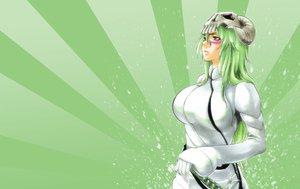 Rating: Safe Score: 20 Tags: bleach green_hair long_hair mask neliel_tu_oderschvank sword weapon yellow_eyes User: Eruku