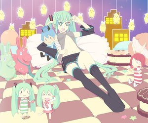 Rating: Questionable Score: 28 Tags: hatsune_miku kagamine_len kagamine_rin kaito lots_of_laugh_(vocaloid) meiko powhu vocaloid User: keke