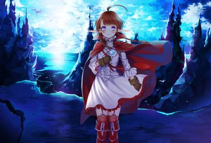 Rating: Safe Score: 151 Tags: boots braids brown_hair cape dragon dress fire_emblem gloves nah_(fire_emblem) pointed_ears purple_eyes scenic thighhighs tsukino_omame User: opai