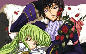 Rating: Safe Score: 14 Tags: cc code_geass flowers lelouch_lamperouge petals rose vector User: atlantiza