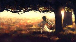 Rating: Safe Score: 131 Tags: dress grass landscape long_hair scenic sombernight tree User: humanpinka