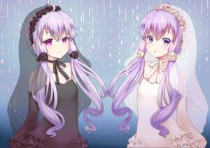 Rating: Safe Score: 54 Tags: 2girls choker dress flowers kakan_(amka) long_hair purple_eyes purple_hair twintails vocaloid voiceroid wedding_attire yuzuki_yukari User: FormX
