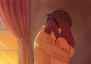 Rating: Safe Score: 118 Tags: angel_beats! fumichi hug nakamura_yuri noda tears User: FormX