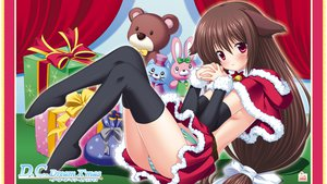 Rating: Questionable Score: 48 Tags: animal_ears christmas da_capo_dream_x'mas elbow_gloves nanami_ayane panties striped_panties thighhighs underwear User: meccrain