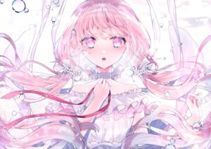 Rating: Safe Score: 43 Tags: ashiba_nero bubbles choker close long_hair original pink_eyes pink_hair ribbons signed twintails underwater water User: BattlequeenYume