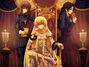 Rating: Safe Score: 103 Tags: daffobird fate_(series) fate/stay_night fate/zero genderswap gilgamesh kotomine_kirei tohsaka_tokiomi User: opai