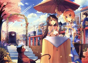 Rating: Safe Score: 32 Tags: animal bicolored_eyes blonde_hair bow brown_hair car cat clouds flowers group japanese_clothes kirero lolita_fashion long_hair male petals red_eyes scan short_hair sky stairs tree umbrella User: RyuZU