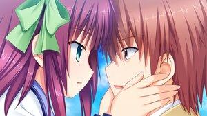Rating: Safe Score: 29 Tags: angel_beats! close game_cg key male na-ga nakamura_yuri otonashi_yuzuru ribbons User: Tensa