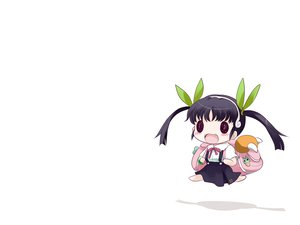Rating: Safe Score: 24 Tags: blush bow chibi hachikuji_mayoi monogatari_(series) nisemonogatari twintails white yume_shokunin User: PAIIS
