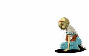 Rating: Safe Score: 28 Tags: alice_margatroid blonde_hair blue_eyes dress ribbons short_hair touhou white User: Oyashiro-sama