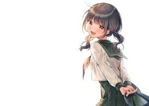 Rating: Safe Score: 79 Tags: black_hair blush brown_eyes fang midorikawa_you original school_uniform skirt twintails white User: otaku_emmy