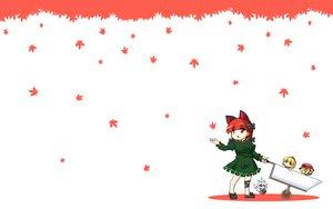 Rating: Safe Score: 8 Tags: aki_minoriko aki_shizuha animal_ears catgirl chibi food group kaenbyou_rin leaves touhou urushi zombie_fairy User: SciFi