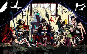 Rating: Questionable Score: 14 Tags: gainax group kamina kinon kittan kiyal kiyoh nia_teppelin simon tengen_toppa_gurren_lagann vector yoko_littner User: atlantiza