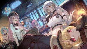 Rating: Safe Score: 94 Tags: anthropomorphism aqua_eyes aqua_hair azur_lane bandage black_hair blonde_hair breasts chapayev_(azur_lane) cleavage food gangut_(azur_lane) gloves gray_eyes gray_hair group grozny_(azur_lane) hat lack logo long_hair minsk_(azur_lane) navel pamiat_merkuria_(azur_lane) ponytail purple_eyes purple_hair red_eyes short_hair smoking sovetskaya_rossiya_(azur_lane) tashkent_(azur_lane) User: Nepcoheart