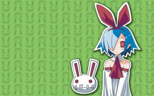 Rating: Safe Score: 26 Tags: animal blue_hair bow bunny disgaea doll green pleinair pointed_ears red_eyes short_hair User: Oyashiro-sama