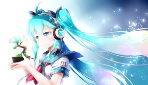 Rating: Safe Score: 29 Tags: aqua_eyes aqua_hair hatsune_miku headphones long_hair mochizuki_saku seifuku tree twintails vocaloid User: FormX
