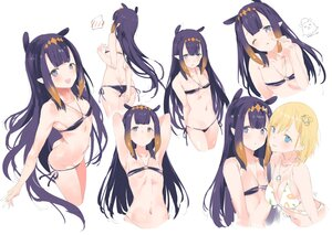 Rating: Safe Score: 89 Tags: 2girls amelia_watson ass bikini blonde_hair hololive kogeneko long_hair navel ninomae_ina'nis pointed_ears purple_eyes purple_hair short_hair sketch swimsuit User: BattlequeenYume