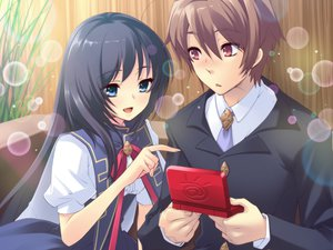 Rating: Safe Score: 18 Tags: blush bubbles flyable_heart game_cg itou_noiji katsuragi_syo seifuku shirasagi_mayuri User: 秀悟