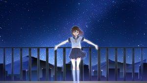 Rating: Safe Score: 49 Tags: night original sakurea school_uniform stars User: Wiresetc