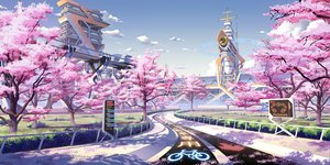 Rating: Safe Score: 225 Tags: building cherry_blossoms clouds culture_japan flowers nobody original pinakes scenic sky spring tree User: opai