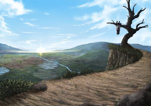 Rating: Safe Score: 89 Tags: berabou grass kijin_seija landscape scenic sky touhou tree User: Wiresetc
