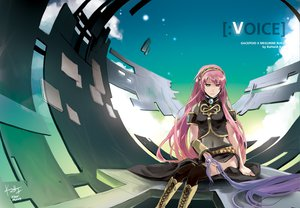 Rating: Safe Score: 54 Tags: boots kamui_gakupo long_hair male megurine_luka pink_hair purple_hair rahwia signed sky thighhighs vocaloid User: anaraquelk02