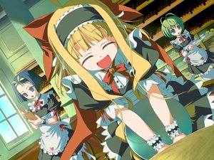 Rating: Safe Score: 17 Tags: alice_alicetel_fernek apron aqua_eyes blonde_hair blue_hair bow favorite food game_cg granitiana_cristia green_hair headband long_hair pantyhose purple_eyes ribbons shida_kazuhiro short_hair sofiace_raphonitte waitress wiz_anniversary User: 秀悟