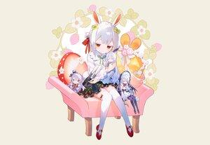 Rating: Safe Score: 32 Tags: animal_ears bunny_ears bunnygirl doll flowers gray original red_eyes shirt short_hair skirt tail thighhighs white_hair yamiko zettai_ryouiki User: otaku_emmy