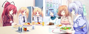 Rating: Safe Score: 1 Tags: alicia_infans blonde_hair blue_hair food game_cg green_eyes group koyuki_amagase kujou_yuuka long_hair magus_tale nina_geminis ponytail purple_hair red_eyes red_hair rena_geminis seera_finis_victoria short_hair tenmaso twintails User: Oyashiro-sama