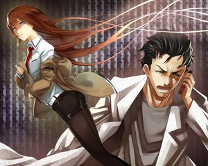 Rating: Safe Score: 51 Tags: makise_kurisu okabe_rintarou purple_eyes red_hair steins;gate tef tie User: HawthorneKitty