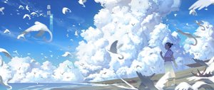 Rating: Safe Score: 66 Tags: animal bird clouds japanese_clothes mushishi scenic sky zxq User: Flandre93