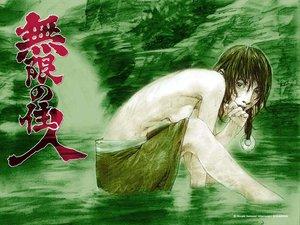 Rating: Questionable Score: 4 Tags: afternoon asano_rin green logo long_hair mugen_no_juunin samura_hiroaki sideboob topless water User: Oyashiro-sama