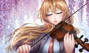 Rating: Safe Score: 33 Tags: aqua_eyes blonde_hair butterfly close flowers hinayukisaki instrument long_hair miyazono_kaori seifuku shigatsu_wa_kimi_no_uso tie violin User: otaku_emmy