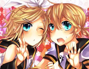 Rating: Safe Score: 14 Tags: kagamine_len kagamine_rin vocaloid User: HawthorneKitty