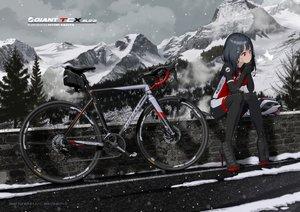 Rating: Safe Score: 18 Tags: bicycle black_hair bodysuit clouds hitomi_kazuya long_hair original red_eyes sky snow tree watermark winter User: BattlequeenYume