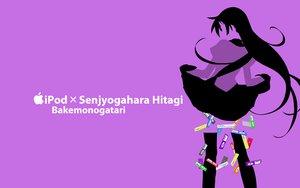 Rating: Safe Score: 49 Tags: bakemonogatari ipod kisoba monogatari_(series) purple senjougahara_hitagi silhouette User: anaraquelk2