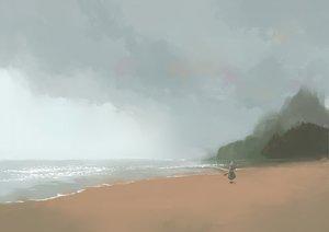 Rating: Safe Score: 48 Tags: beach konpaku_youmu scenic touhou water User: happygestapo
