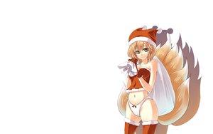 Rating: Safe Score: 82 Tags: animal_ears christmas foxgirl miya9 multiple_tails panties tail thighhighs touhou underwear white yakumo_ran User: SciFi
