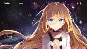 Rating: Safe Score: 70 Tags: aqua_eyes blonde_hair blush choker crying long_hair nahaki rachel_gardner satsuriku_no_tenshi tears User: RyuZU