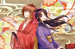 Rating: Safe Score: 78 Tags: conone himura_kenshin japanese_clothes kamiya_kaoru kimono male rurouni_kenshin User: FormX