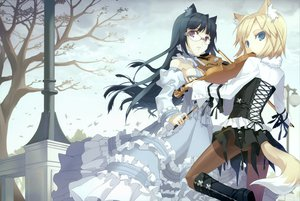Rating: Safe Score: 149 Tags: animal_ears catgirl glasses h2so4 instrument lolita_fashion scan tail violin User: Xtea