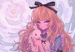 Rating: Safe Score: 35 Tags: alice_in_wonderland alice_(wonderland) animal aqua_eyes blonde_hair bow lolita_fashion long_hair rabbit ribbons tagme_(artist) User: otaku_emmy