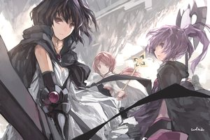 Rating: Safe Score: 169 Tags: aisha_(elsword) arad_senki black_hair cape dress dungeon_and_fighter dungeon_fighter_online elsword female_mage_(dnf) original paradise_(pffk) pixiv_fantasia ponytail purple_eyes purple_hair red_eyes red_hair short_hair signed staff swd3e2 weapon User: Flandre93