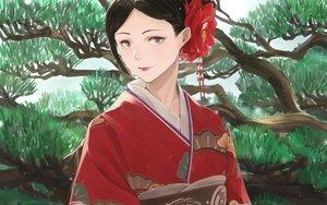 Rating: Safe Score: 33 Tags: japanese_clothes kimono original somehira_katsu tree User: FormX