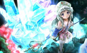 Rating: Safe Score: 83 Tags: atelier_totori blue_eyes dress long_hair scarlet_(studioscr) staff totooria_helmold User: opai