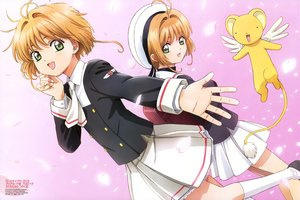 Rating: Safe Score: 30 Tags: brown_hair card_captor_sakura gradient green_eyes hamada_kunihiko hat kero kinomoto_sakura kneehighs petals pink scan school_uniform short_hair skirt watermark User: RyuZU
