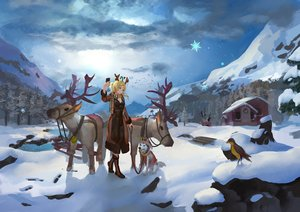 Rating: Safe Score: 58 Tags: animal ayase_eri bird building christmas clouds dog landscape love_live!_school_idol_project reindeer scenic snow tree zxc00016 User: mattiasc02