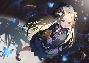 Rating: Safe Score: 115 Tags: abigail_williams_(fate/grand_order) blonde_hair blue_eyes butterfly dress fate/grand_order fate_(series) loli long_hair teddy_bear tukise_33 User: BattlequeenYume